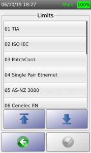 Copper Certification Test Limit Options 1